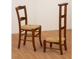 chaise 117 - assise paille et prie dieu